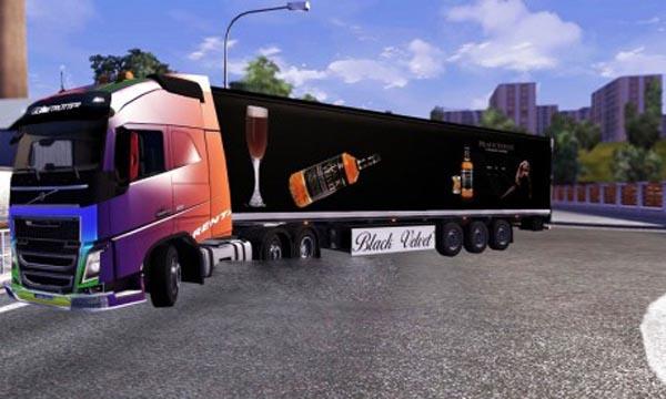Black velvet trailer skin