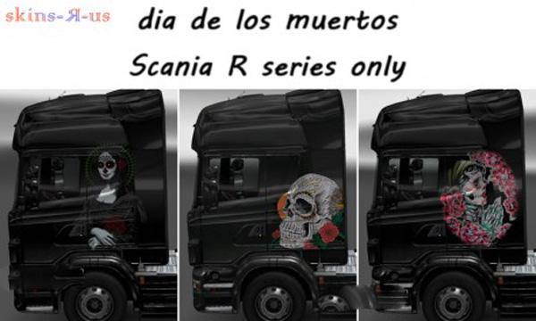 Dia De Los Muertos skins for Scania