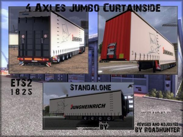 Krone 4 Axles Jumbo Curtainsider