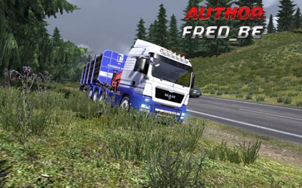 MAN TGS + Trailer Wood Grosbois
