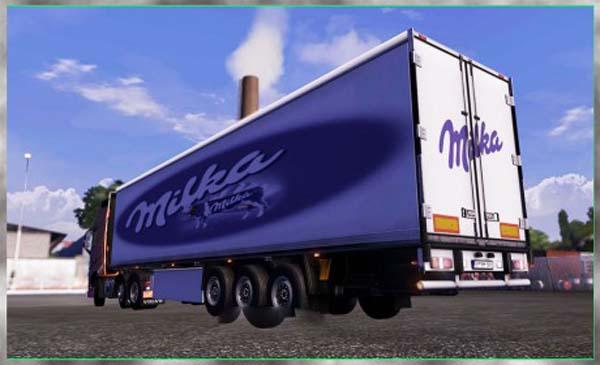 Milka trailer skin