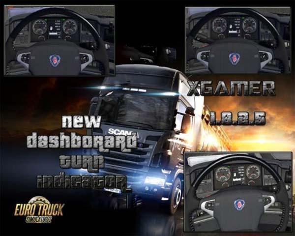 New Scania Streamline Dashboard Turn indicator