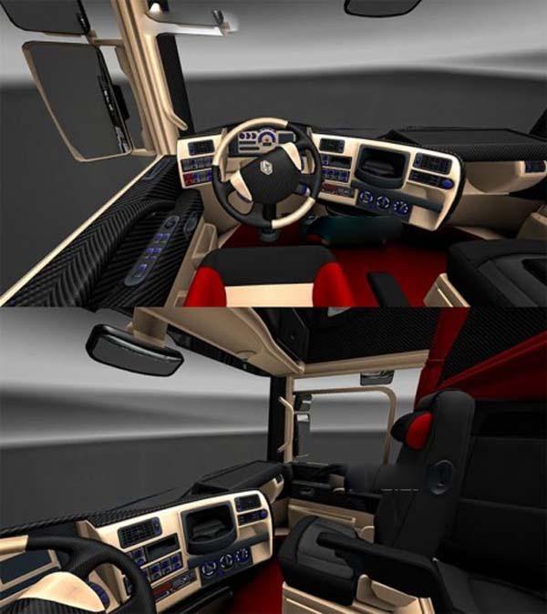Renault Magnum Carbon & Cream interior