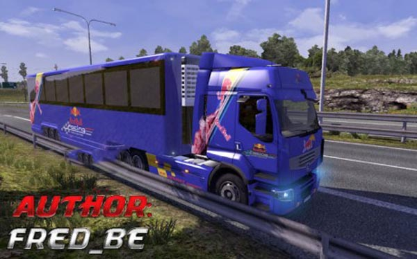 Renault Premium + Trailer Red Bull