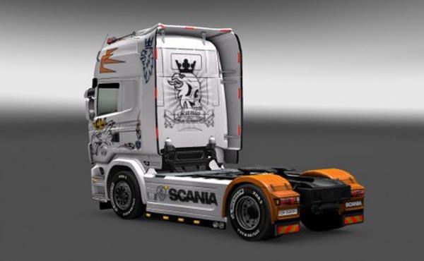 Scania R 2009 white skin