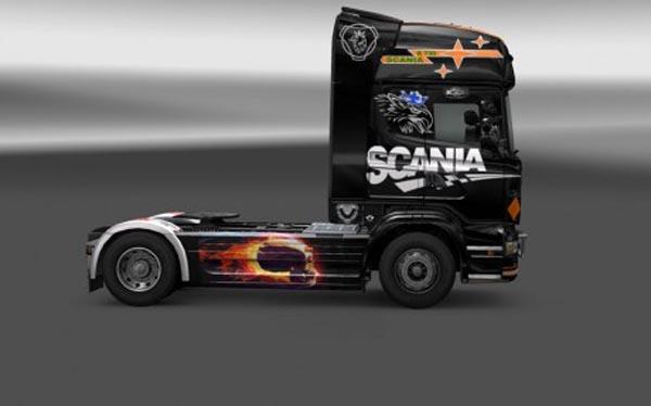 Scania R2009 Black Skin