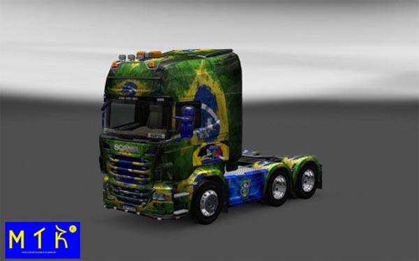 Skin Scania Brasil Copa 2014