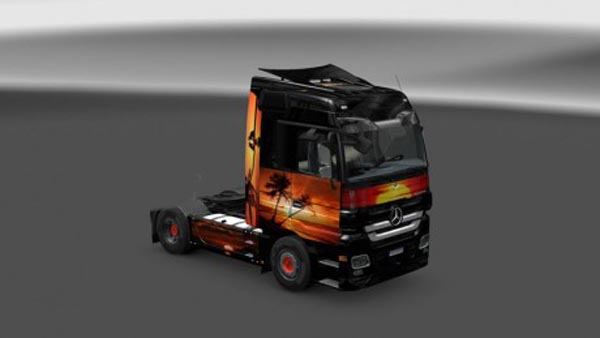 Sunset skin for Actros
