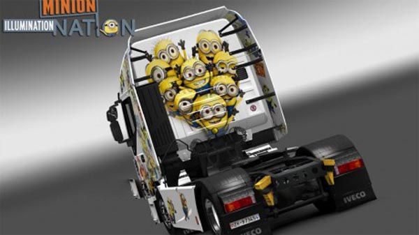 The Minions skin for Iveco Hi-Way