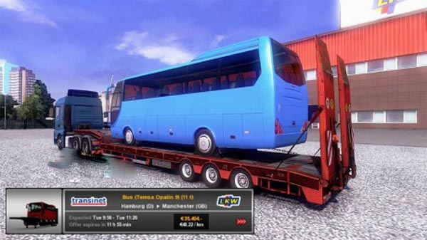 Trailer with bus
