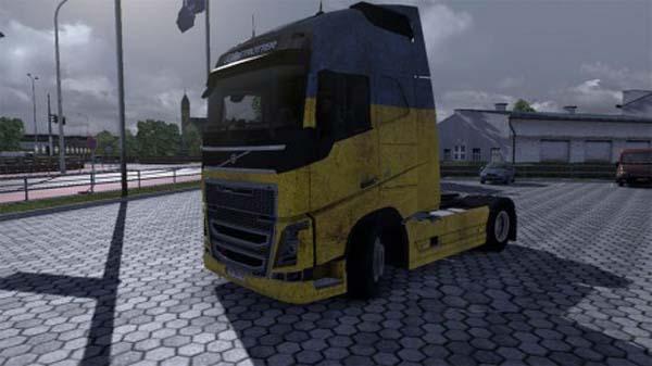 Ukraine skin for Volvo
