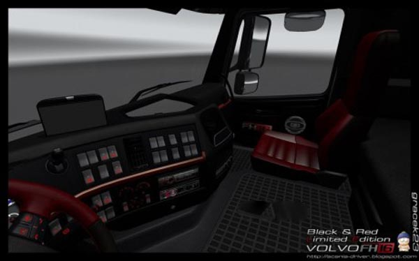 Volvo FH 16 Black Red Interior
