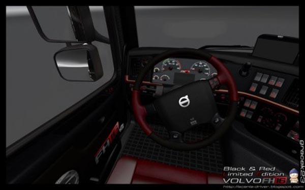 Volvo FH 16 Black Red Interior