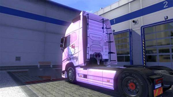 Volvo FH 2012 Hello Kitty pink skin