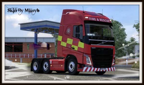 Volvo FH 2013 Fire & Rescue Skin