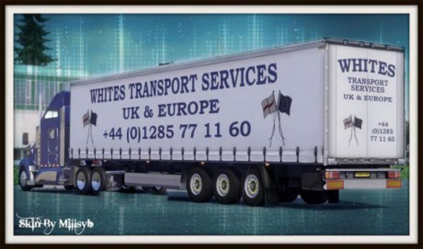 Whites Transport Services Trailer Skin
