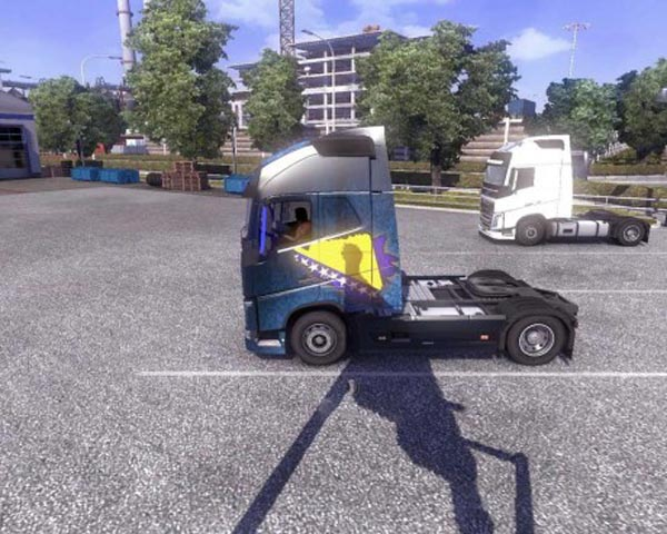 Bosnian Shadered Flag Skin for Volvo FH 2013