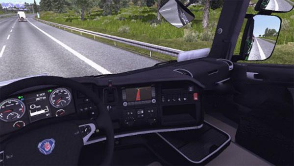 Carbon fiber interior for scania r ets2planet com