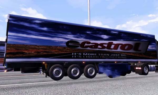 Castrol trailer skin