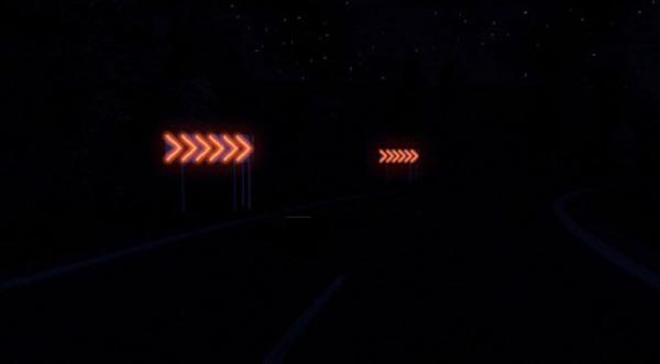 Dangerous turn lights