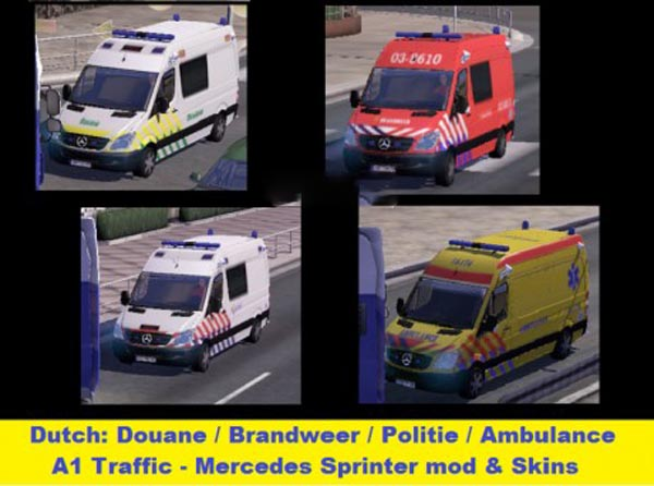 Fire  Ambulance  Police on MB Sprinter