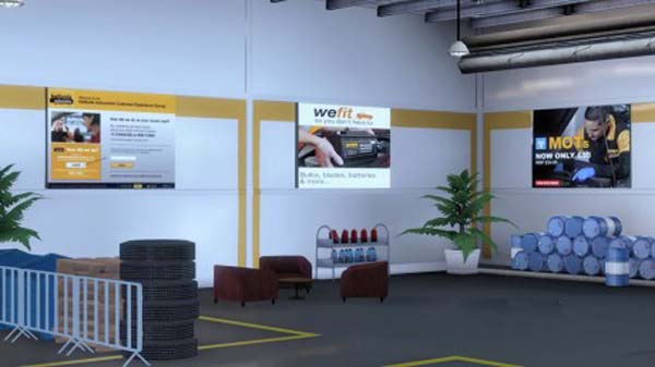 Halfords Autocentre Garage Skin
