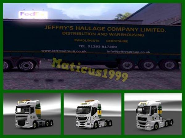 Jeffrys Haulage Skin Pack