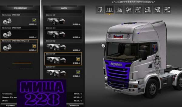 Mod for Scania R Truck