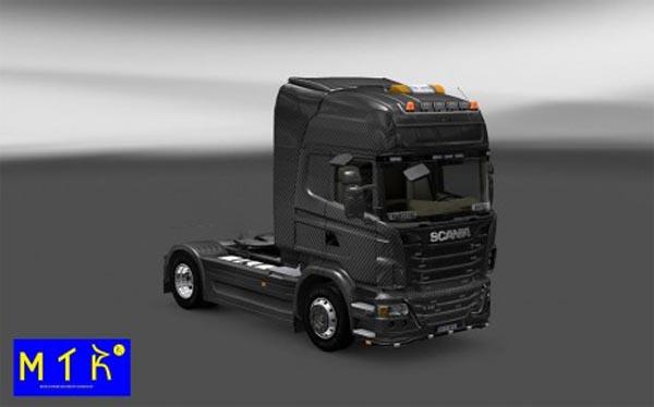 Skin Scania Carbono