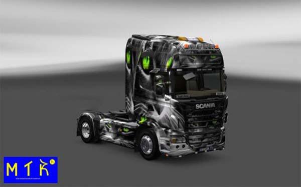 Skin Scania Cat 3D