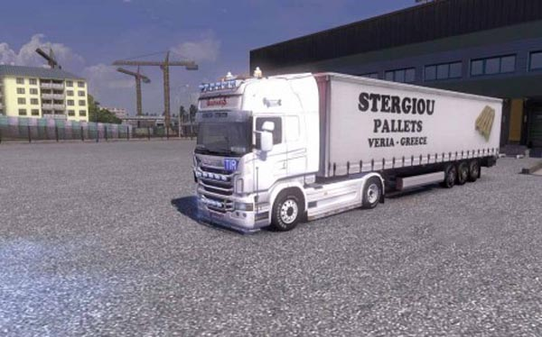 Stergiou Pallets Veria Greece Trailer Skin