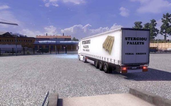 Stergiou Pallets Veria Greece Trailer Skin