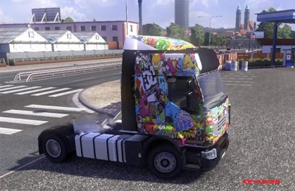 Stickerbomb skin for Renault
