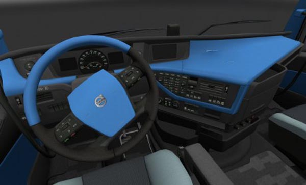 Volvo FH 2012 Blue Interior | ETS2planet.com