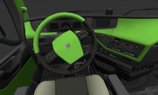Volvo FH 2012 Green Interior