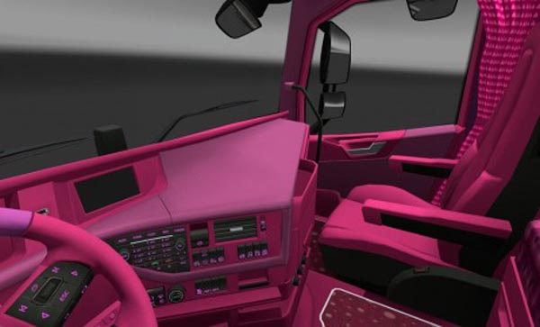 Volvo FH 2012 Pink Interior
