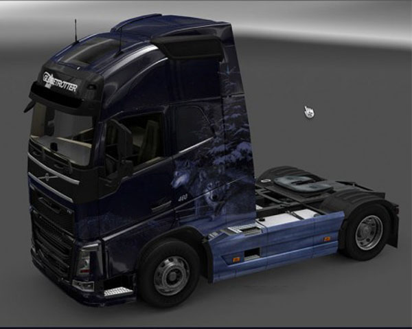 Volvo FH 2012 Winter Wolves Skin