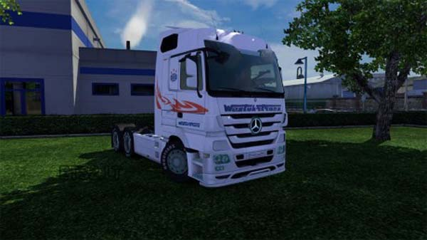 West Truck Trans skin for Mercedes