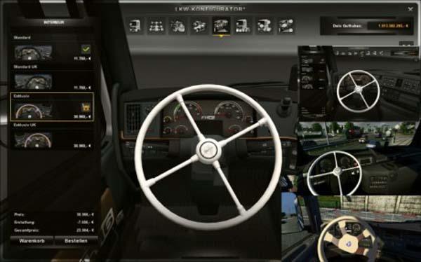 White Steering Wheel Pack