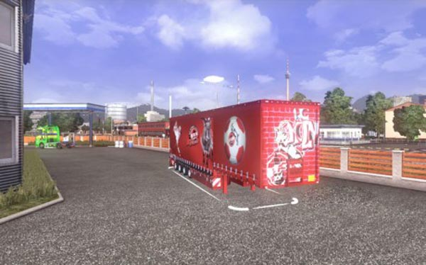 4 axle Jumpo 1 FC Köln Trailer