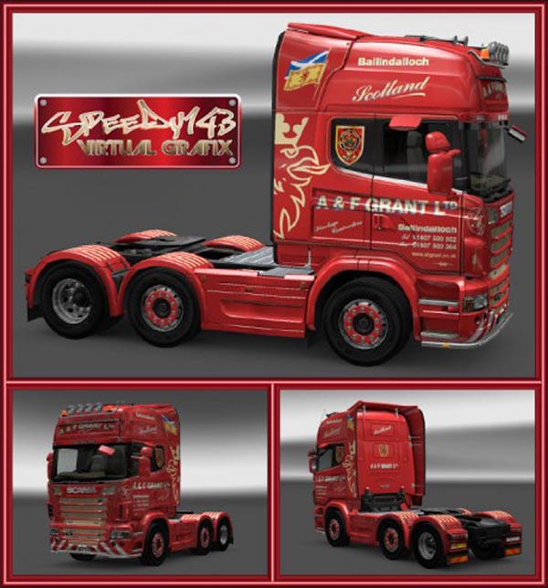 A&F Grant Scania R Skin