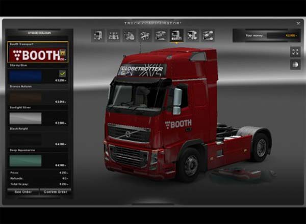 Booth Transport Skins