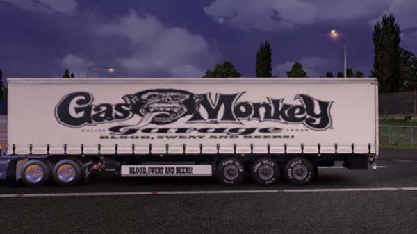 Gas Monkey Garage Trailer Skin