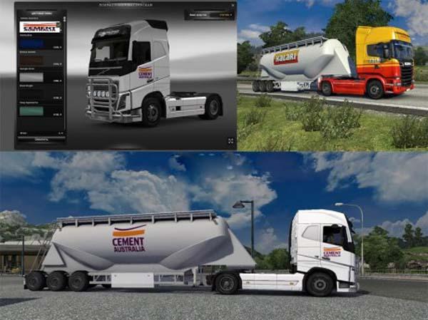 Kalari Australia cement trailer skin
