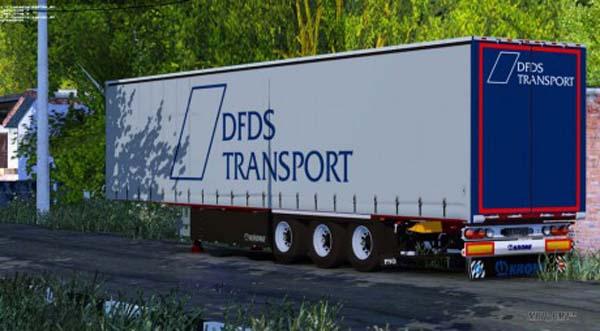 Krone SDP27 DFDS Transport Trailer