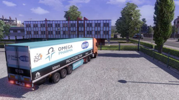 Omega Pharma Quick Step trailer