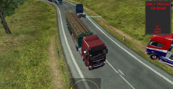 Only Trucks on Road