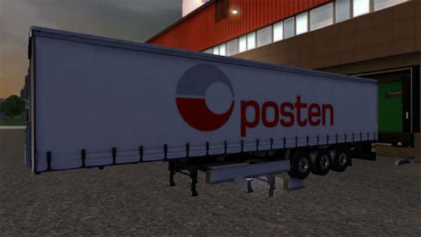 Posten company and trailer