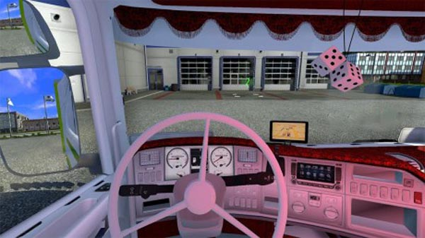 Red and white interior for 50k Scania