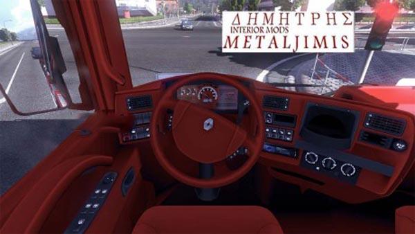 Renault Magnum Red interior